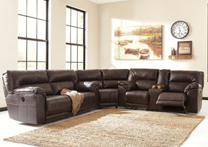 Barrettsville DuraBlend® Reclining Sectional,Benchcraft