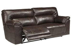 Barrettsville DuraBlend® Chocolate 2 Seat Reclining Power Sofa,Benchcraft