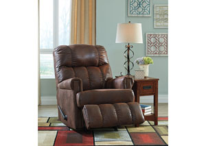 Chipster Espresso Rocker Recliner,Signature Design by Ashley