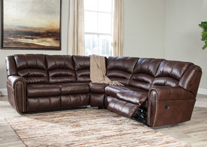 Furniture Liquidators Home Center Manzanola Chocolate Reclining Sectional