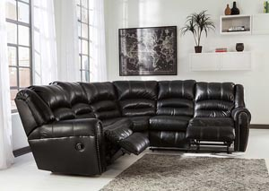 Manzanola Black Reclining Sectional,Signature Design by Ashley