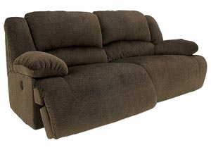 Toletta Chocolate 2 Seat Reclining Power Sofa,Signature Design by Ashley