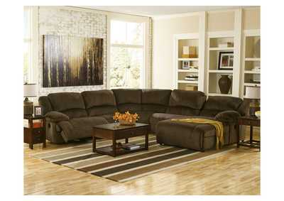 Toletta Chocolate Right Facing Chaise End Power Reclining Sectional,Signature Design by Ashley