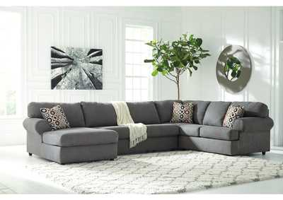 Jayceon Steel Extended Left Facing Chaise End Sectional,Signature Design by Ashley