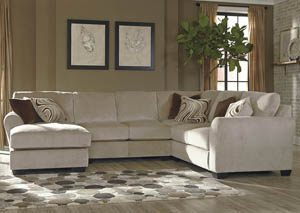Hazes Fleece Left Facing Corner Chaise Sectional w/ Right Facing Loveseat,Benchcraft
