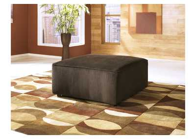 Vista Chocolate Oversized Accent Ottoman,Ashley