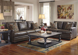 Corvan Antique Sofa & Loveseat,Signature Design by Ashley