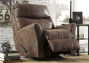 Tullos Coffee Rocker Recliner,Signature Design by Ashley