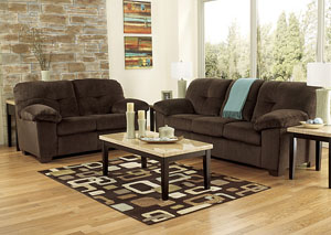 Inger Chocolate Sofa & Loveseat