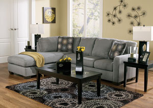 Zella Charcoal Left Facing Chaise Sectional,Signature Design by Ashley
