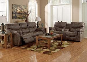 Alzena Gunsmoke Reclining Power Sofa & Loveseat,Signature Design by Ashley