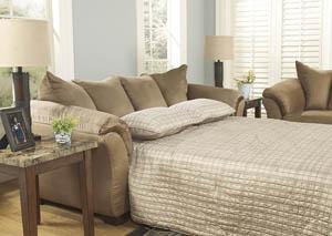 Darcy Mocha Full Sofa Chaise Sleeper,Signature Design by Ashley