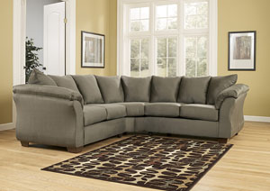 Darcy Sage Sectional,Signature Design by Ashley