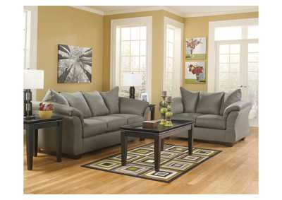 Darcy cobblestone sofa loveseat for Ashley durapella chaise