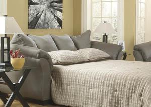 Darcy Cobblestone Full Sofa Chaise Sleeper,Signature Design by Ashley
