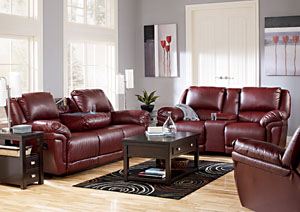 Magician DuraBlend Garnet Reclining Sofa & Loveseat,Signature Design by Ashley