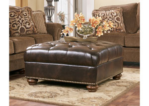 Presidio Antique Oversized Accent Ottoman,Signature Design by Ashley