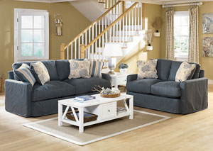 Addison Slate Sofa & Loveseat