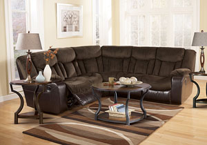 Tafton Java Reclining Sectional