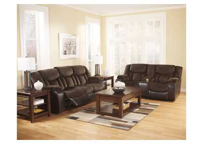Tafton Java Reclining Sofa & Loveseat,Signature Design by Ashley