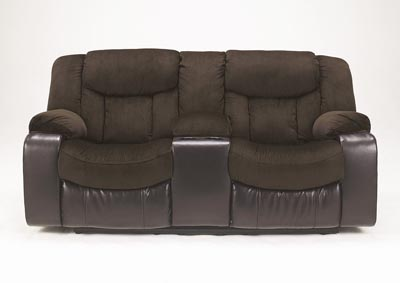 Tafton Java Double Reclining Loveseat w/ Console,Signature Design by Ashley