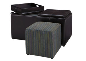 Casheral Brown Oversized Accent Ottoman