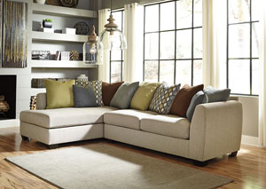 Casheral Linen Left Arm Facing Chaise End Sectional