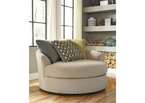Casheral Linen Oversized Swivel Accent Chair