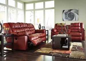 Brolayne DuraBlend Garnet Reclining Sofa & Loveseat,Signature Design by Ashley