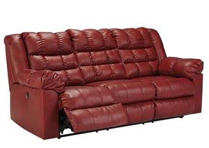 Brolayne DuraBlend Garnet Reclining Sofa,Signature Design by Ashley