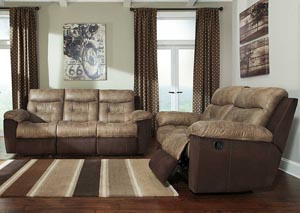 McLaurin Mocha Reclining Sofa & Loveseat,Signature Design by Ashley