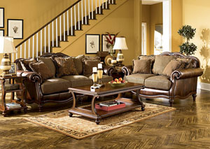 Claremore Antique Sofa & Loveseat,Signature Design by Ashley