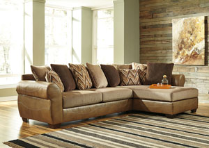 Declain Sand Sectional w/ Right Facing Corner Chaise,Benchcraft
