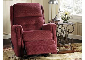 Meadowbark Burgundy Glider Recliner,Signature Design by Ashley