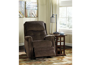 Meadowbark Chocolate Glider Recliner,Signature Design by Ashley