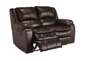 Long Knight Brown Reclining Loveseat,Signature Design by Ashley