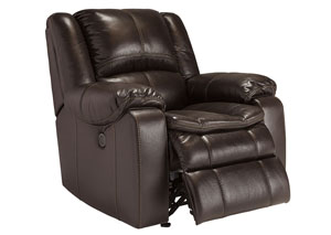 Long Knight Brown Power Rocker Recliner,Signature Design by Ashley