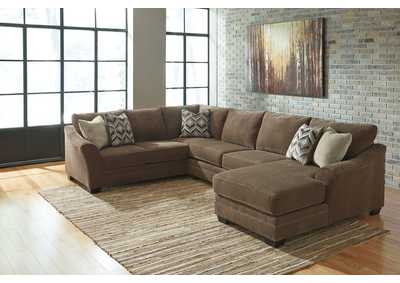 Justyna Teak Left Facing Sectional w/ Armless Loveseat and Right Facing Corner Chaise,Benchcraft