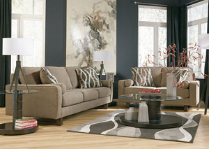 Treylan Smoke Sofa & Loveseat