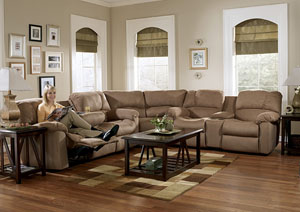 Eli Cocoa Reclining Sectional