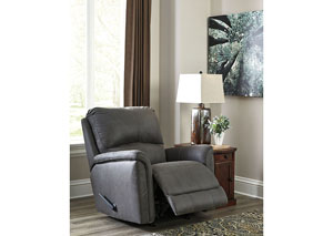 Ranika Gray Rocker Recliner,Signature Design by Ashley