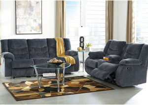 Garek Blue Reclining Sofa & Loveseat