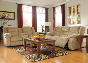 Garek Sand Reclining Power Sofa & Loveseat