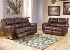 McAdams Brown Reclining Sofa & Loveseat