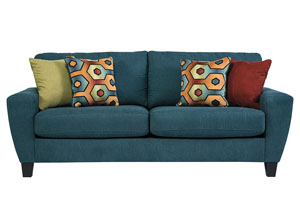 Sagen Teal Sofa,Signature Design by Ashley