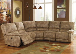 Interlace Brownstone Reclining Power Sectional