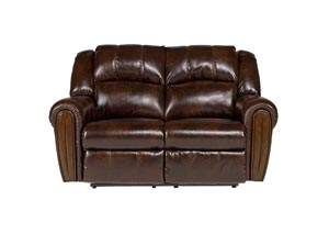 Woodsdale DuraBlend Antique Reclining Loveseat