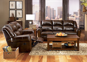 Woodsdale DuraBlend Antique Reclining Sofa & Loveseat
