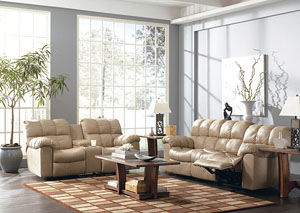 Max Chamois Reclining Sofa & Loveseat