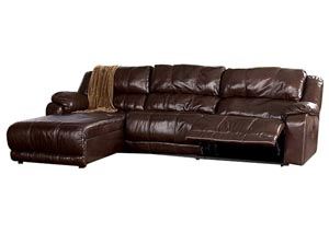 Braxton Java Left Facing Chaise End Reclining Sectional,Millennium